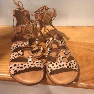 Dolce Vita Calf Hair gladiator sandals
